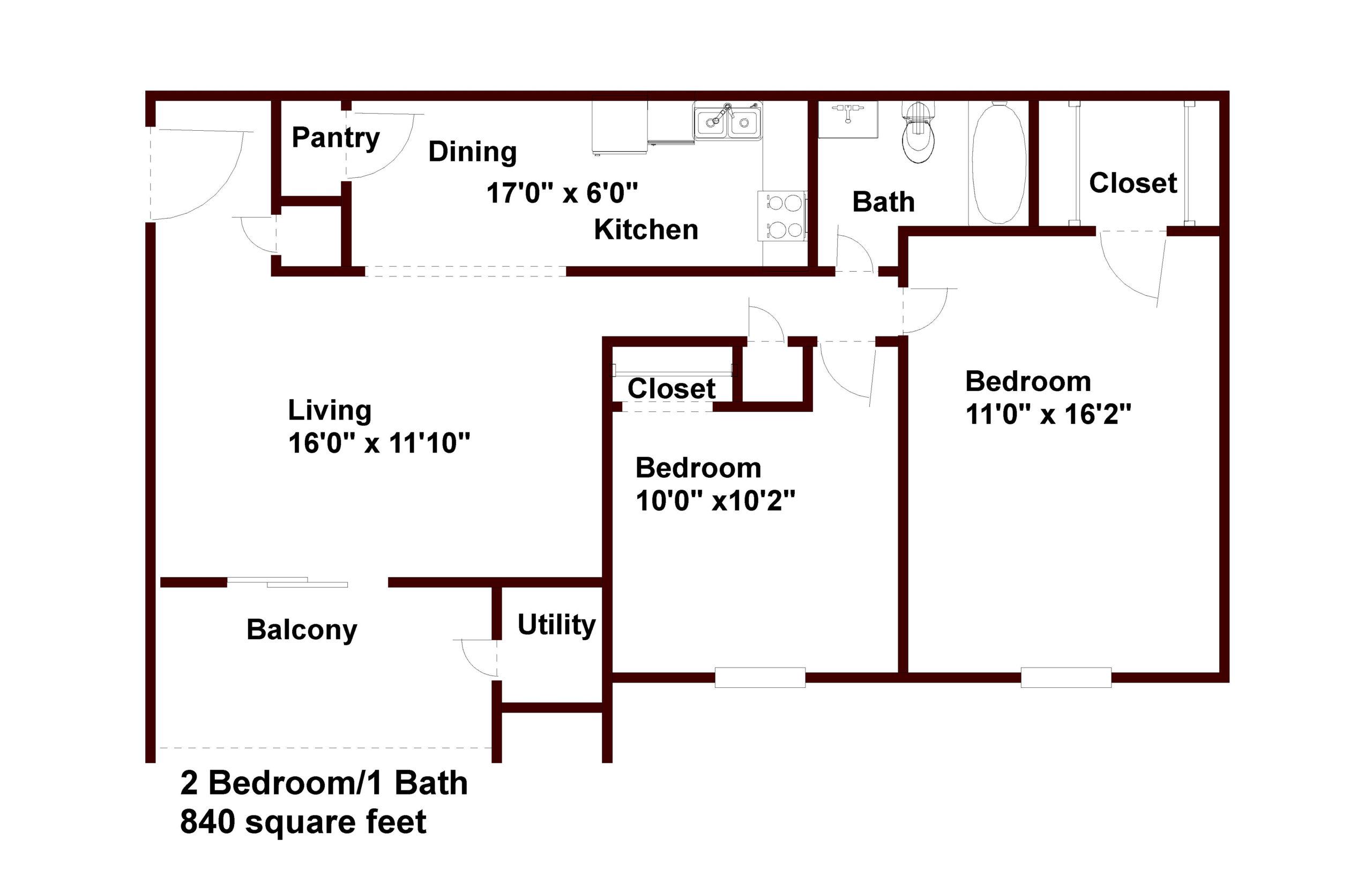 apartments in chapel hill 2 bedroom 1 bath floor plan