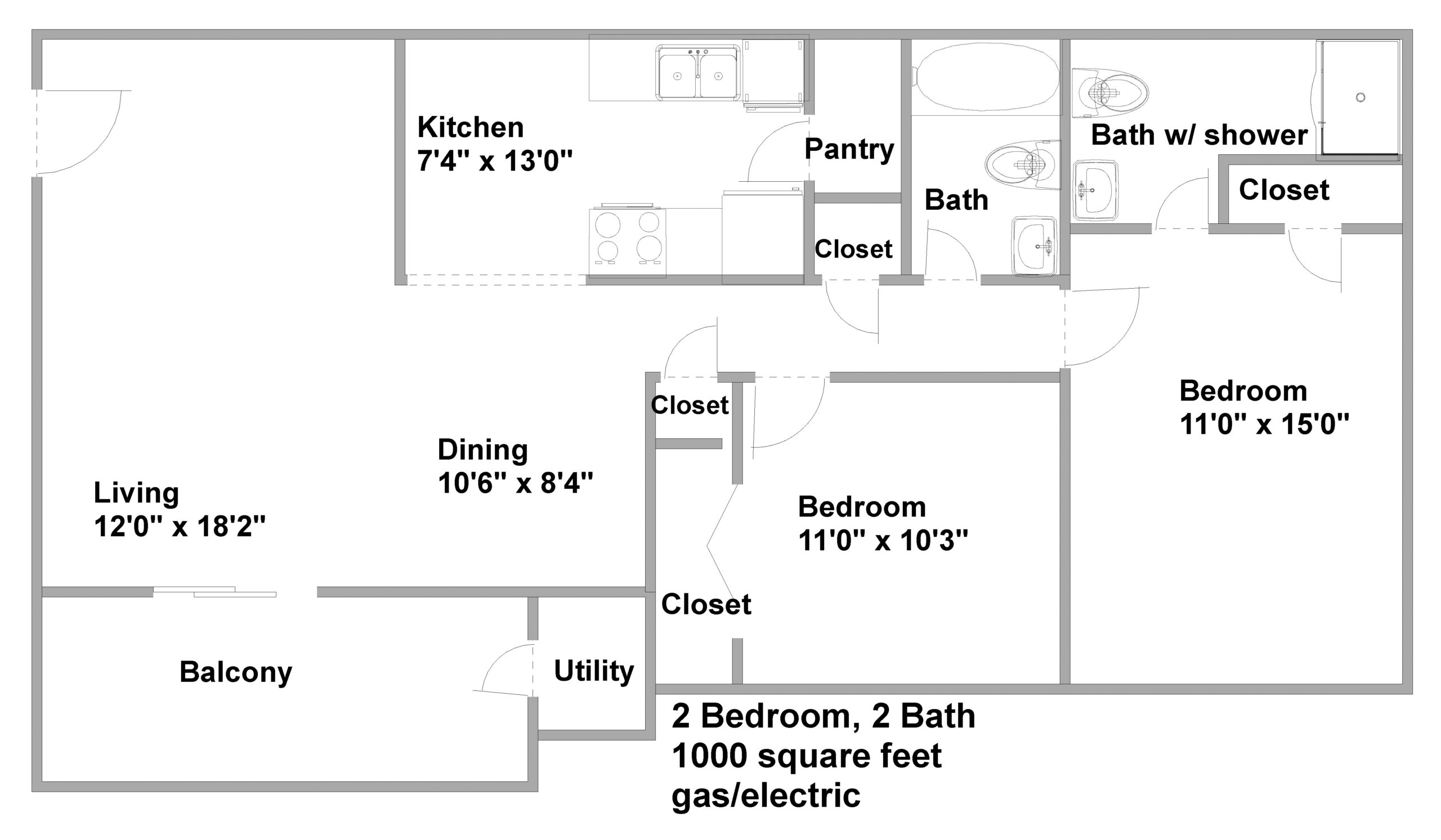 apartments in chapel hill 2 bedroom 2 bath floor plan